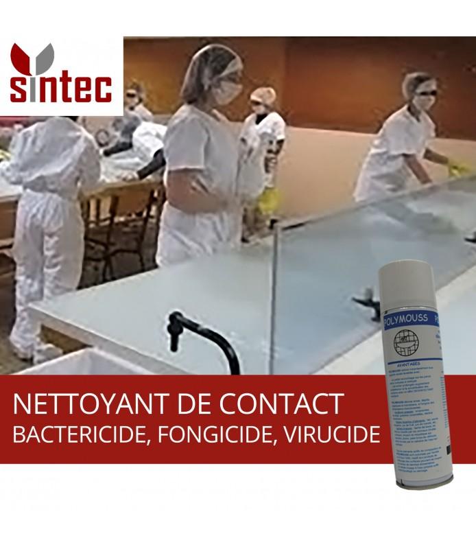 POLYMOUSS - Nettoyant de contact à fonctions bactéricide fongicide virucide