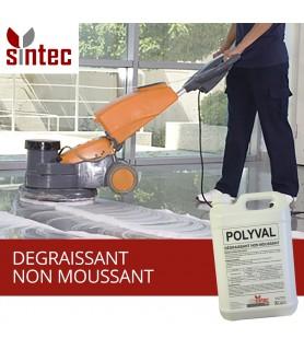 POLYVAL - Produit dégraissant concentré professionnel pour sols en autolaveuse