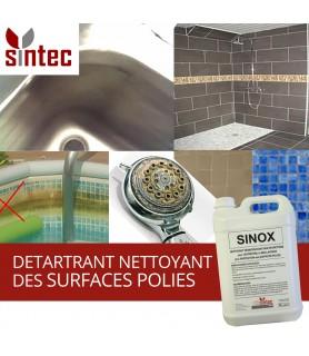 SINOX - Nettoyant détartrant professionnel pour surfaces en chrome, inox, aluminium anodisé